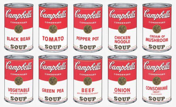 campbells soup Andy Warhol