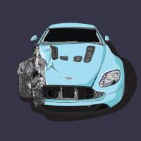 Damaged Aston Martin