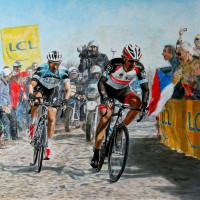 Roubaix 2013, Cancelara Vs. Stybar