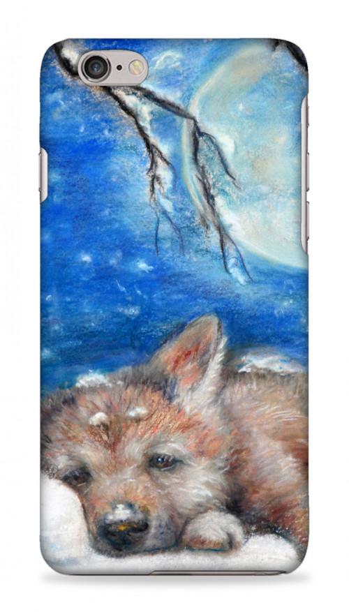 Sleepy Wolf Cub On A Pillow Of Snow