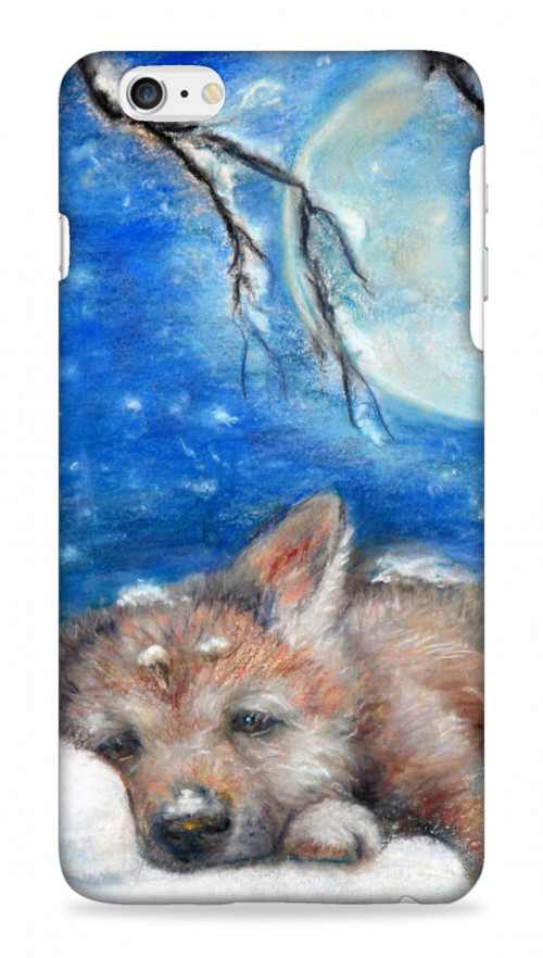 Sleepy Wolf Cub On A Pillow Of Snow