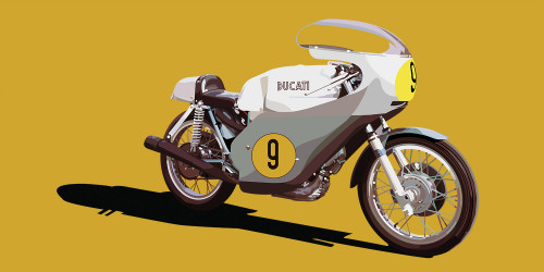 Ducati 500 GP 1971 - Yellow